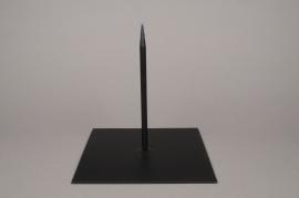 x016ec Socle métal noir 25cm x 25cm H25cm