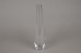 B242W3 Soliflor en verre D3cm H25cm