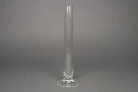 Soliflor en verre sur pied D3cm H30cm