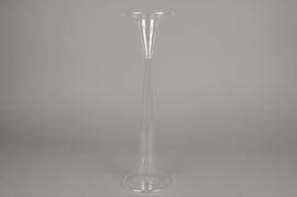 A015U5 Soliflore en verre D11cm H39.5cm