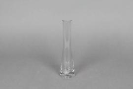 A063PS Soliflore en verre D3.3cm H20cm