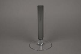 B290W3 Soliflore en verre D3cm H23cm