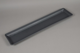 A029NT Soucoupe en plastique gris 17.5cm x 77cm H3.5cm