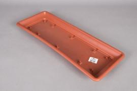 Plastic saucer terracotta 57x22x4cm