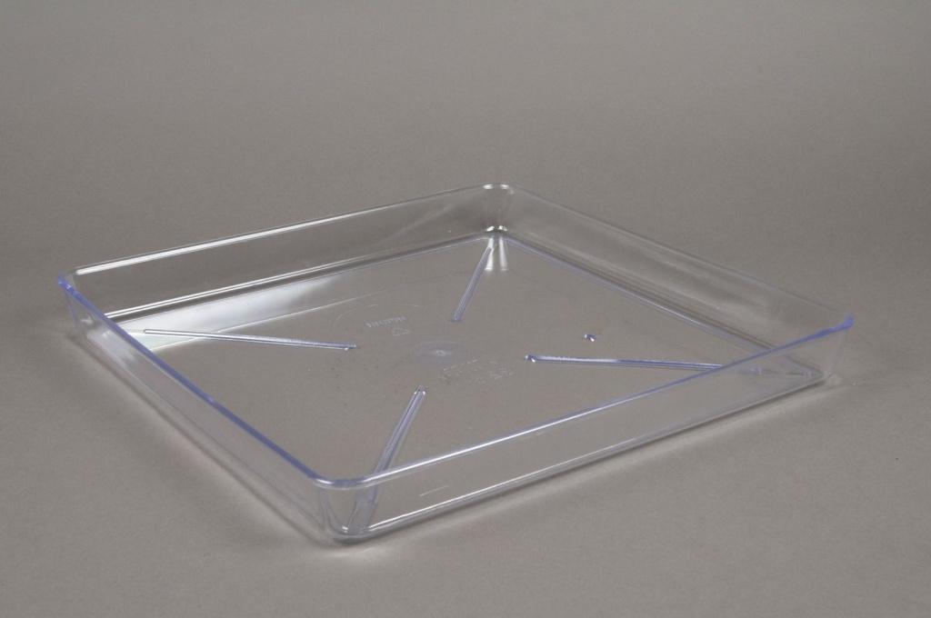 A035K7 Soucoupe en plastique transparente 32x32cm