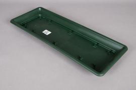 Soucoupe en plastique vert 57x22x4cm