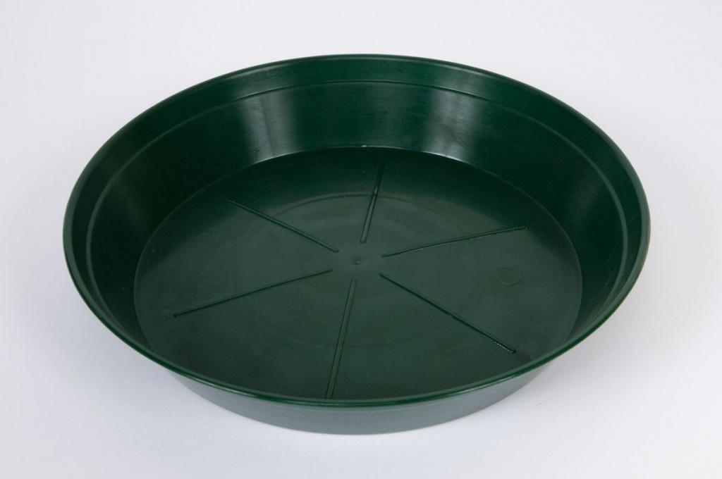Soucoupe en plastique verte D14cm