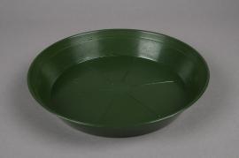 Soucoupe en plastique verte D26cm