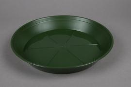 Green plastic saucer D28cm