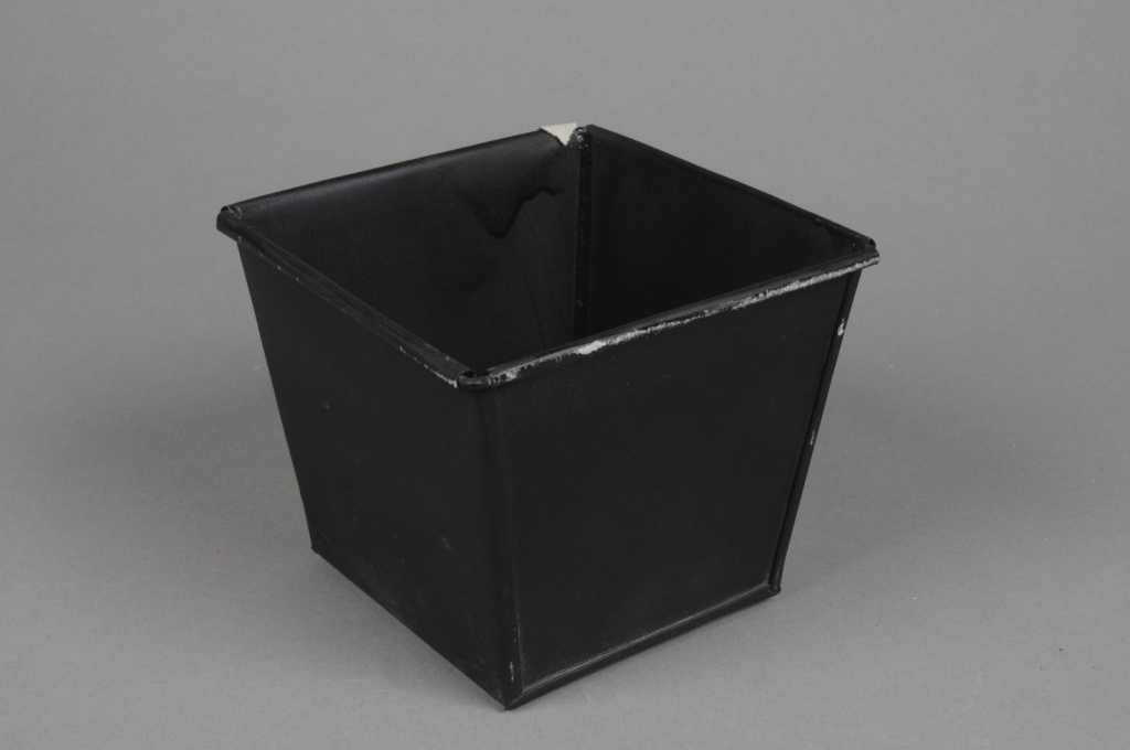 A001GF Square black zinc planter 13cm x 13cm H11cm on square aluminum planters, square iron planters, square stone planters, square brass planters, square outdoor planters, square tin planters, square terracotta planters, square fiberglass planters, square lead planters, square plastic planters, square white planters, square garden planters,