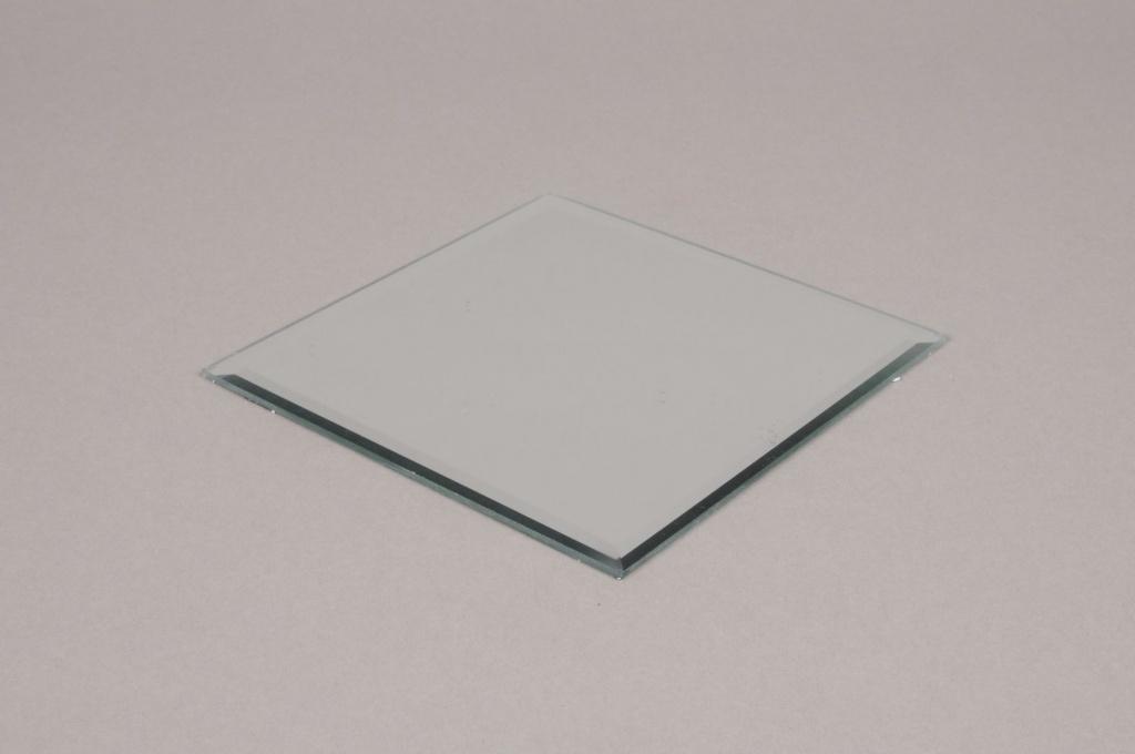 A001MA Support de bougie miroir 15x15cm