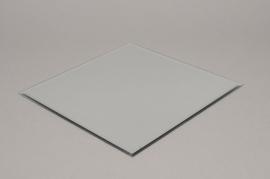 A003MA Support de bougie miroir 25x25cm