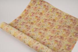 SV00N4 Rouleau de papier mat journal et fleurs 70cm x 40m