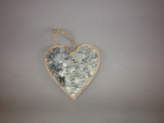 SV00O4 Birch heart hanging 12cm