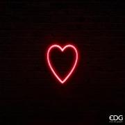 SV00QL Coeur néon rouge 70 LED L16cm H20cm