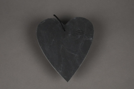 SV01J5 Slate heart hanging D20cm