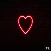 SV01QL Coeur néon rouge 105 LED L24cm H30cm
