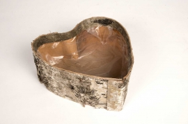SV02DZ Bark heart bowl 26x25cm H10cm