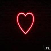 SV02QL Coeur néon rouge 140 LED L32cm H40cm