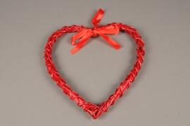 SV19PH Coeur en rotin rouge D30cm