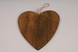 SV24U7 Set de 10 coeurs en bois D15cm