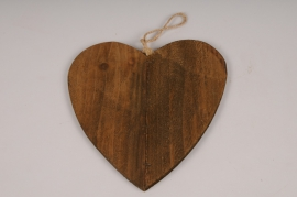 SV24U7 Wooden heart ornament D15cm