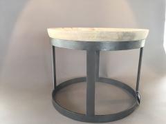 C103DQ Table basse bois et métal D54cm H45cm