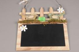 E010KI Tableau ardoise avec sujets Pâques 29 x 29cm