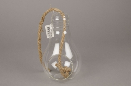 A071PM Glass bulb vase D11cm H21cm