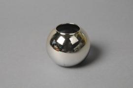 A048K9 Vase boule en verre or D6cm H5.5cm