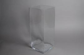 A332J0 Vase carré en verre 20cm x 20cm H50cm