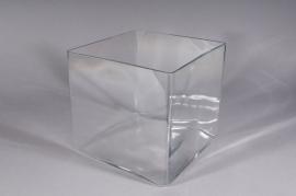 Vase cube en verre 25x25cm H25cm