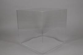 A975W3 Vase cube en verre 30x30cm H30cm