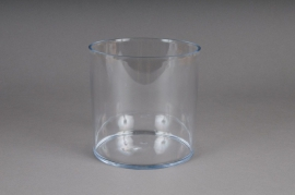 Vase cylinder plexi crystal clear D15 H15cm