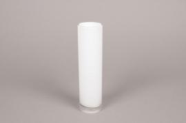 A097PS Vase cylindre en verre blanc D5cm H20cm
