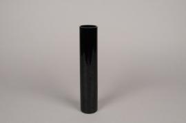 A101PS Vase cylindre en verre noir D5cm H25cm