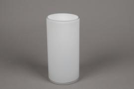 A095PS Vase cylindrique en verre blanc D10cm H20cm