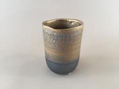 A094YX Vase en céramique antique or cuivre D9cm H12.5cm