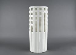 Vase en céramique blanc 22x9x51cm