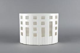 Vase en céramique blanc 32x9x24cm