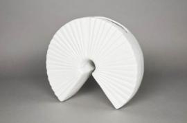 a056uf Vase en céramique blanc D32cm H27cm