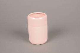 B325WV Vase en céramique rose D8cm H12cm