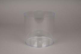 A009R2 Vase en plastique cylindre transparent D15cm H15cm