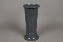 A092T7 Vase en plastique gris D18cm H45cm