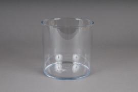 Vase en plexi cristal cylindre transparent D15 H15cm