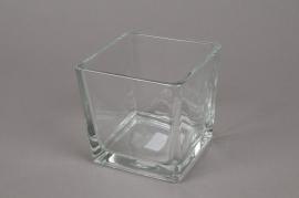 A023I0 Vase en verre 10x10cm H10cm