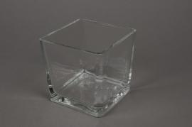 A024I0 Vase en verre 12x12cm H12cm