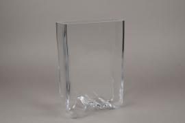 B470W3 Vase en verre 19cm x 8cm H30cm