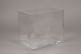 B490W3 Vase en verre 24cm x 18cm H22cm