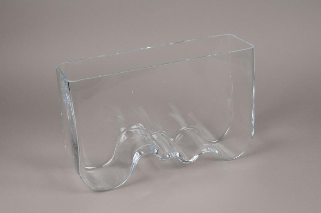 B471W3 Vase en verre 40cm x 12cm H25cm